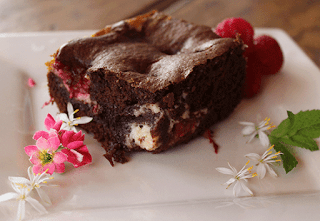 Brownie de chocolate y mascarpone