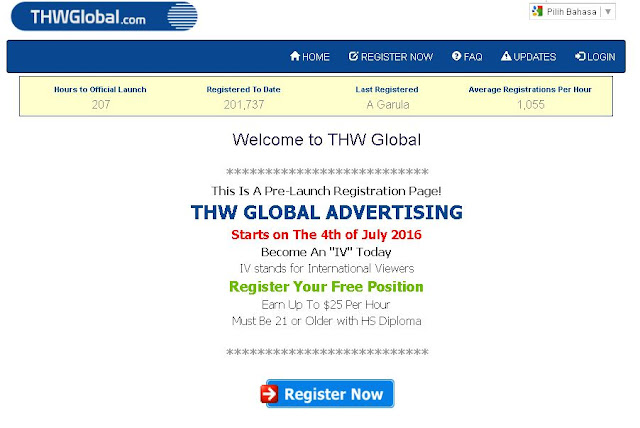 cashusperhour,thwglobal, thw global, make money