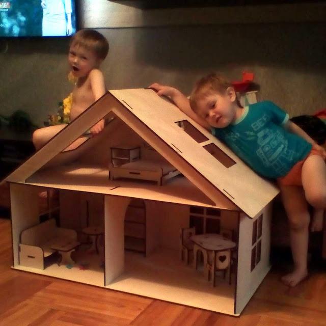 для детей, дом для кукол, конструктор из фанеры замки из фанеры,чертежи, макеты для лазерной резки, модели для лазерной резки