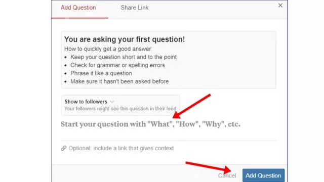 Ask any question on quora