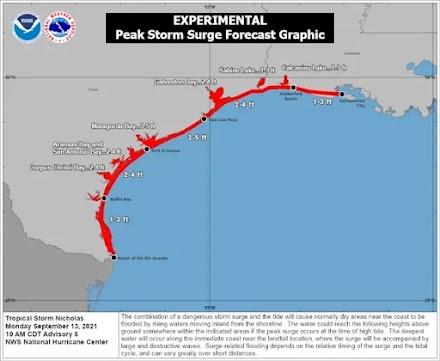 Η τροπική καταιγίδα Νίκολας απειλεί το Τέξας