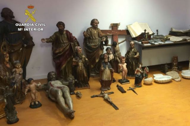 Spanish police break up gang stealing valuable church antiques