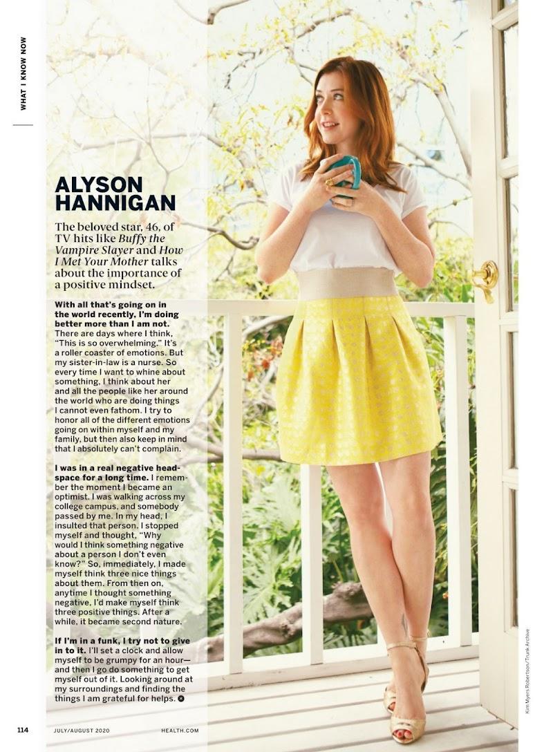 Alyson Hannigan Featured in Health Magazine - July/August 2020