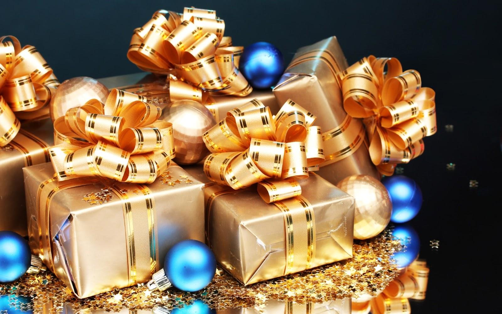 nastro oro, fiocchi, regali, pacchi
