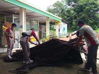 Antisipasi Over Kapasitas Pasien Covid di RS .Lakipadada, Polres Tana Toraja Bantu, Dirikan Tenda Lapangan