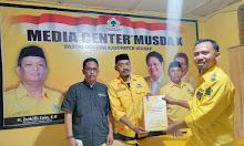 Giliran ASH Ambil Formulir Balon Ketua DPD II Golkar Sidrap, Diwakili Wakil Ketua AMPG Sidrap