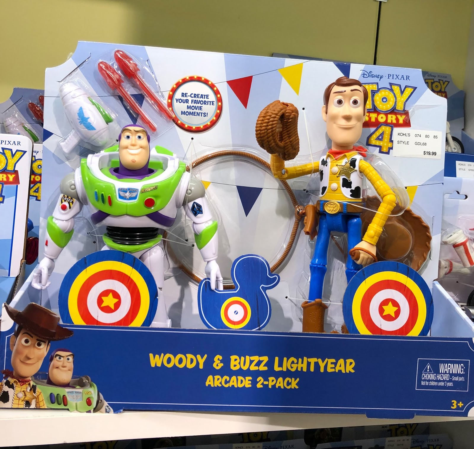 toy story 4 woody and buzz arcade 2-pack