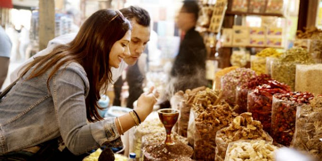 Explore the souks for spices and gold