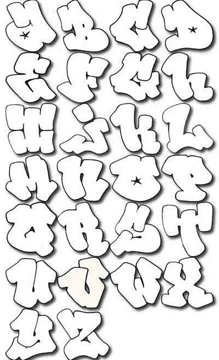 all letters alphabet bubble writing alphabet