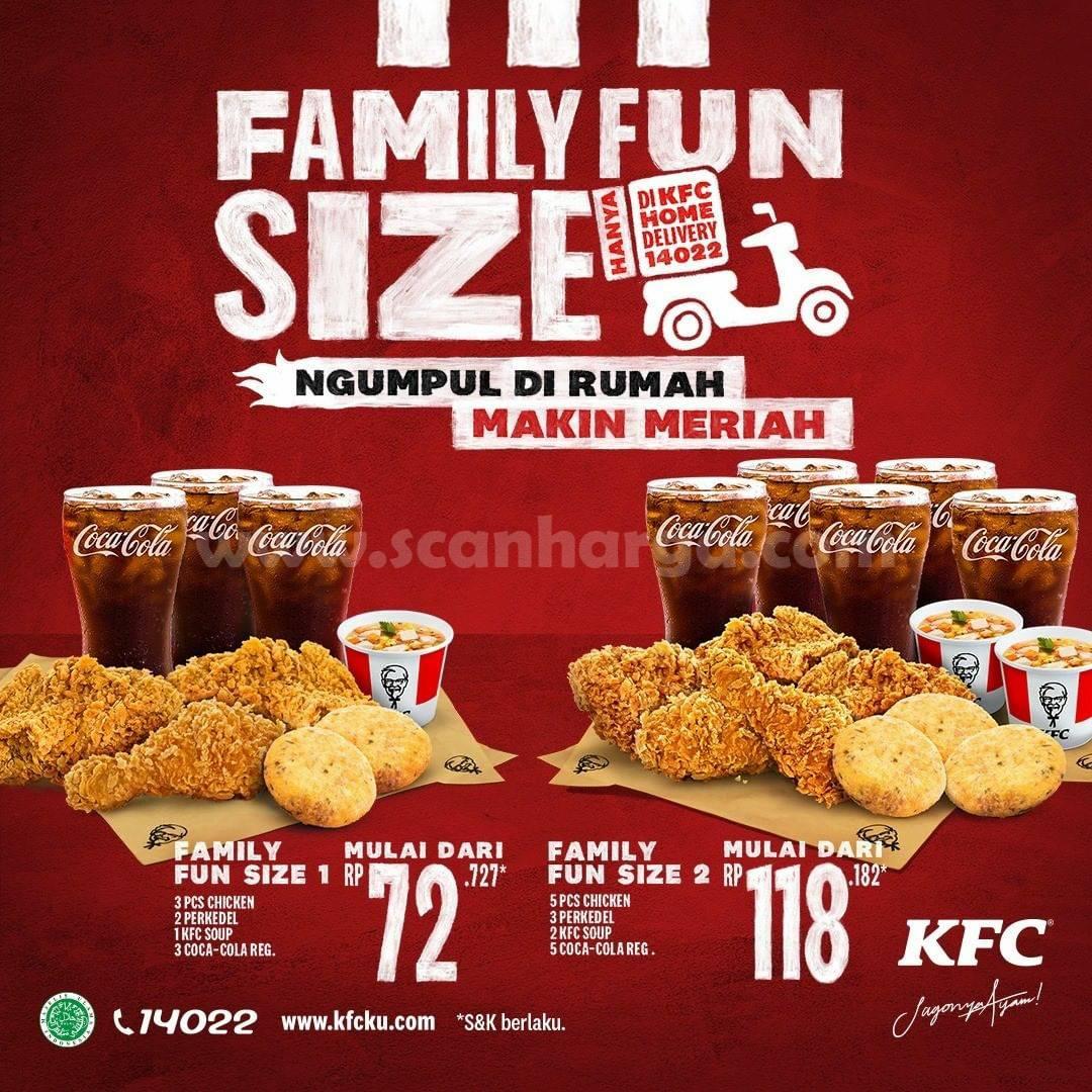 KFC Promo HARI INI! Paket FAMILY FUN SIZE Harga mulai Rp 72.727