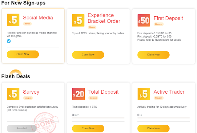 Bonus Crypto Tanpa Deposit Bybit $90