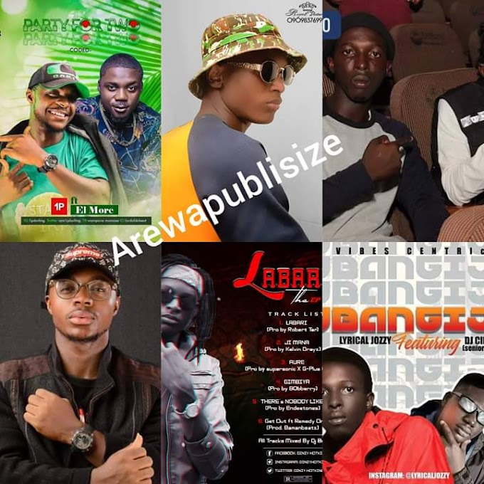 [Achievements] Dinxy hotking, Lyrical Jozzy and Wampana Manza (1p) currently have the biggest songs from Northern Nigeria #Arewapublisize
