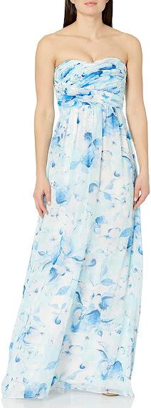 Best Quality Chiffon Strapless Maxi Dresses