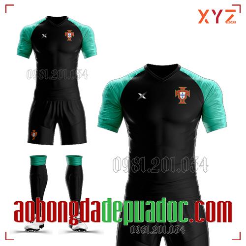 Áo Bồ Đào Nha 2020 Training 1 Màu Đen Đẹp Và Độc