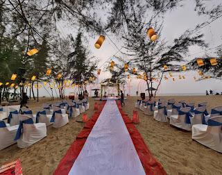 beach wedding setup cherai, kerala