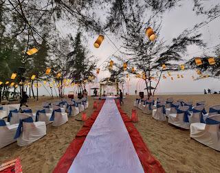 beach wedding setup cherai, kerala