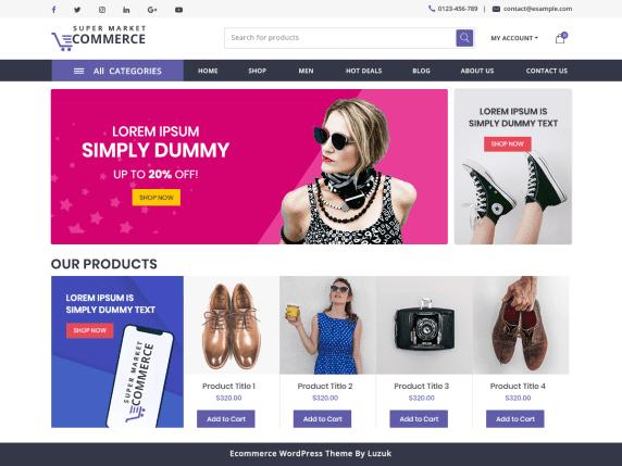 Supermarket Ecommerce Template Wordpress