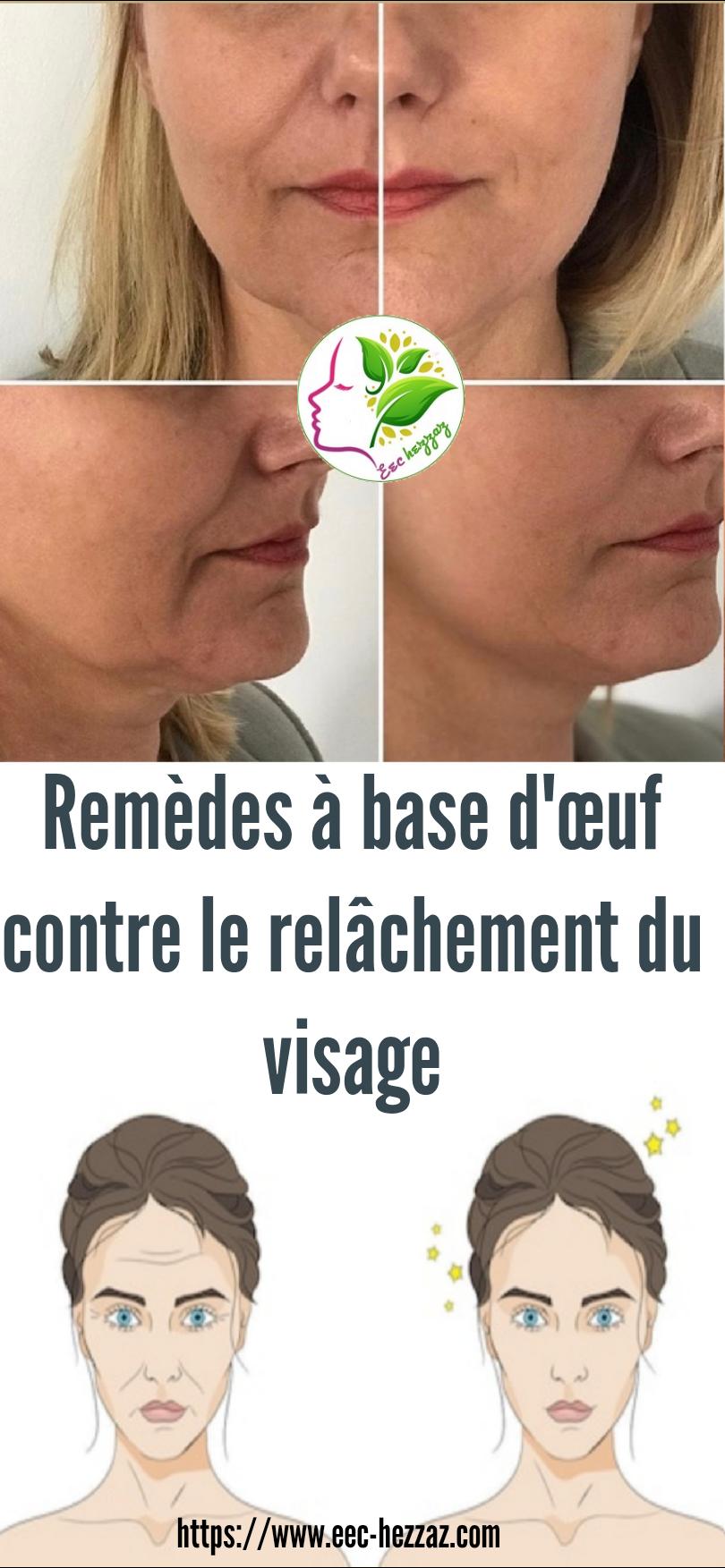 Remèdes à base d'œuf contre le relâchement du visage