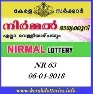 NIRMAL (NR-63) LOTTERY RESULT