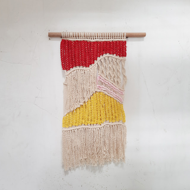 macrame layered wall hanging
