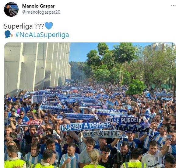 """Manolo Gaspar - Málaga - se moja: """"No a la Superliga"""""""