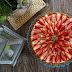 #134 Tarta z warstwą czekolady, kremem budyniowym i truskawkami