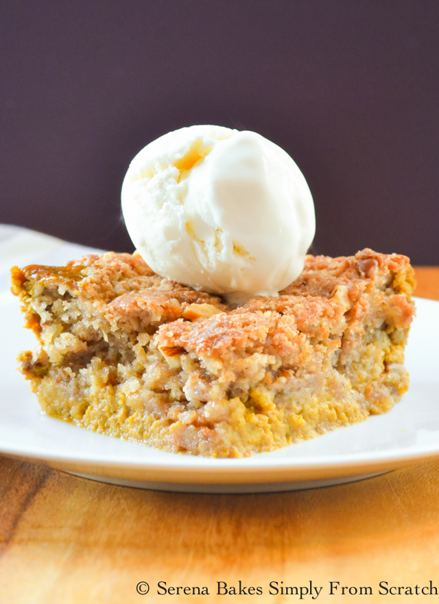 Pumpkin Cobbler the perfect alternative to pie! So good!