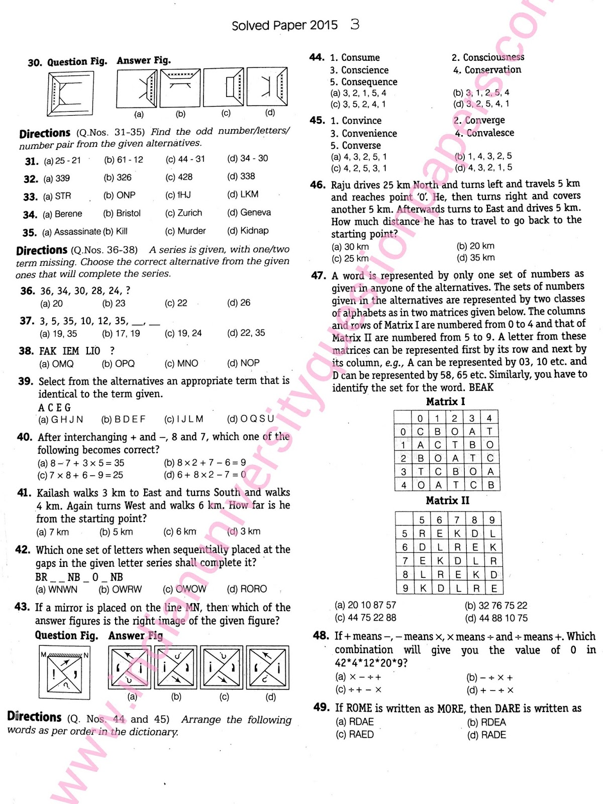Ssc Cgl 2015 Solved Papers Pdf