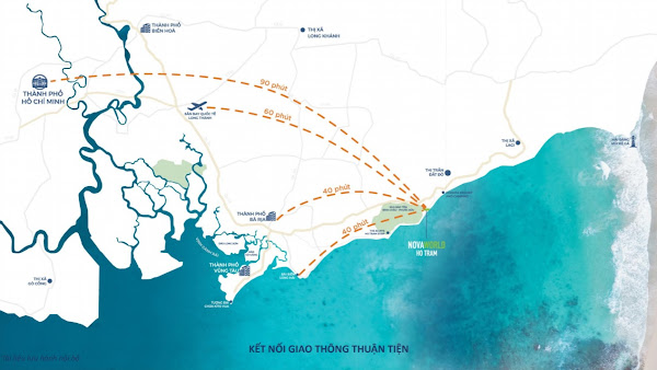 kết nối giao thông từ các thành phố lớn đến biển Hồ Tràm Vũng Tàu