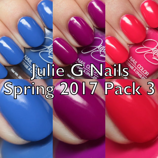 Julie G Nails Spring 2017 Pack 3