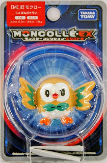 Rowlet figure Takara Tomy Monster Collection MONCOLLE EX EMC series