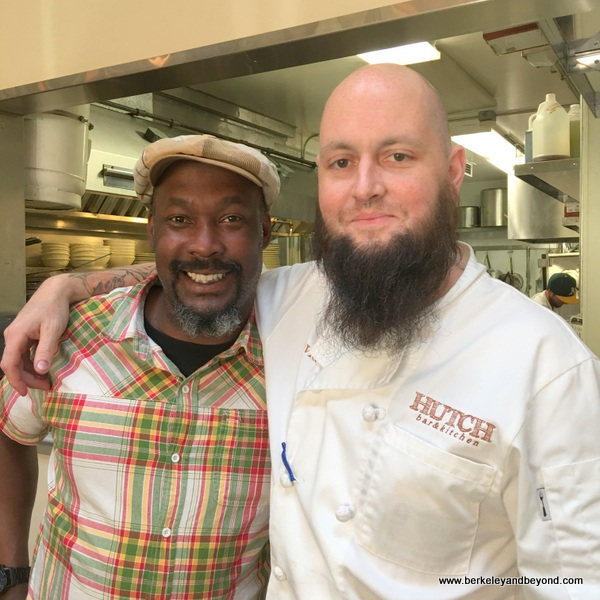 bar manager LaMont Reed with owner David King at Hutch Bar & Kitchen in Oakland, California