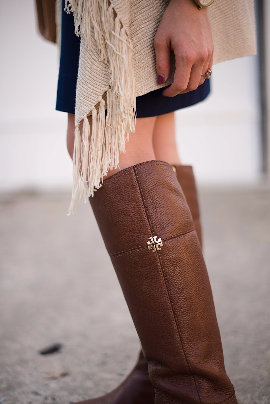 Tory Burch Riding Boots - Rachel Timmerman of Something Delightful Blog