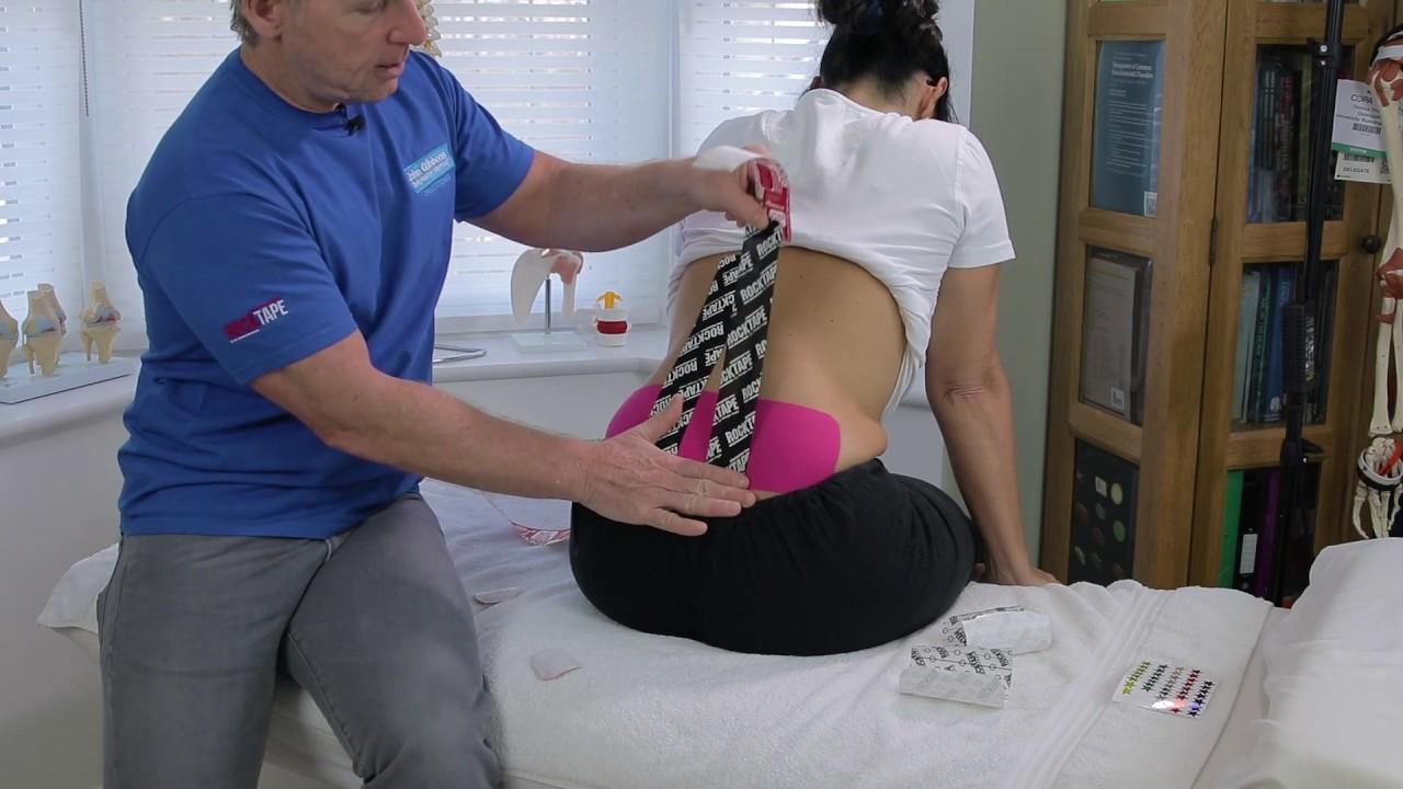 konesiotape untuk nyeri haid, kinesiotape untuk sakit pinggang,