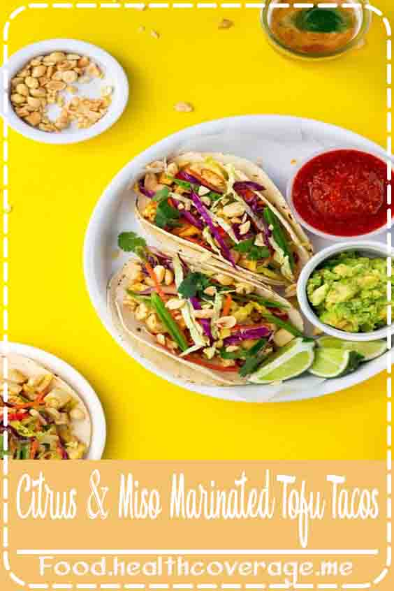 It's Taco Tuesday!!!  Because we really need another excuse to eat tacos, right?!  Well, just in case you do need an excuse to eat them, adding miso and citrus marinated tofu to your taco is the best.