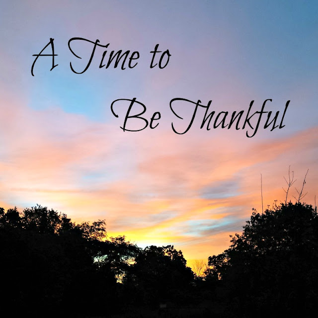 A time to be thankful.