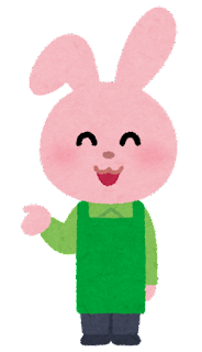 店員の動物のキャラクター(うさぎ)
