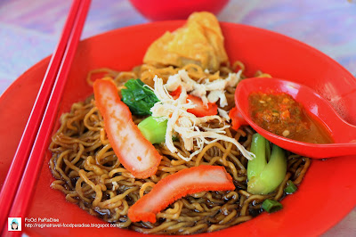 Morning Wantan Mee @ intersection of Lebuh Melayu and Beach Street