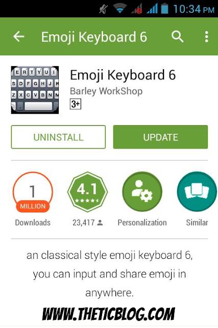 Emoji Keyboard 6 Android App on Google Playstore