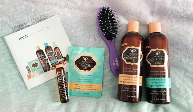 Today I'll be reviewing the Monoi Coconut Oil hair care collection from HASK, a hair care brand that carries shampoos, conditioners, and shine oils in luxurious fragrances and specialty ingredients to suit any kind of hair.