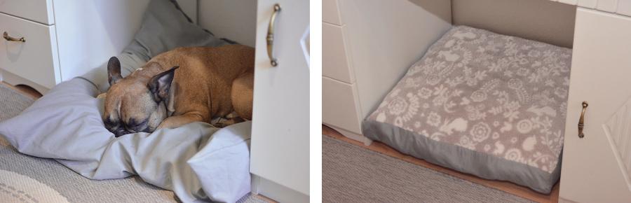 DIY Hunekissen Hundebett quadratisch Schnittmuster Nähanleitung selbst nähen