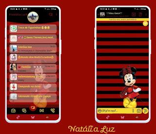 Red Mickey Theme For YOWhatsApp & Fouad WhatsApp By Natalia Luz