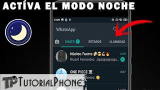 cómo activar modo noche en WhatsApp