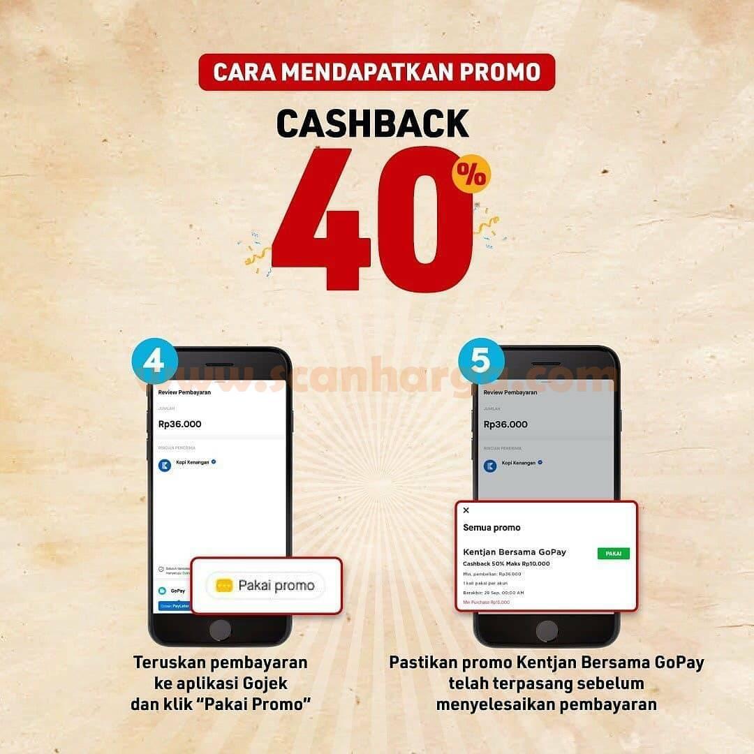KOPI KENANGAN Promo Cashback 40% + Beli 2 GRATIS 1! Diskon GAJIAN dari GOPAY