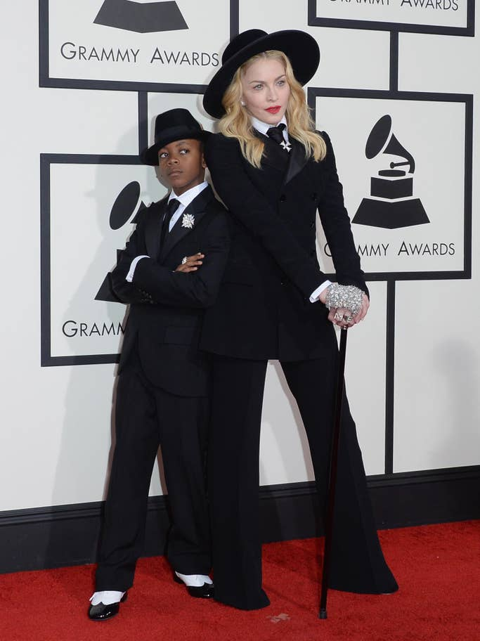 Madonna with her son, David Banda Mwale Ciccone Ritchie (2014).