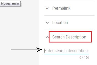 search description blogger mein