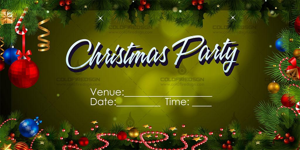 Christmas Party Tarpaulin PSD Template « ColdFireDsgn - christmas party tickets templates
