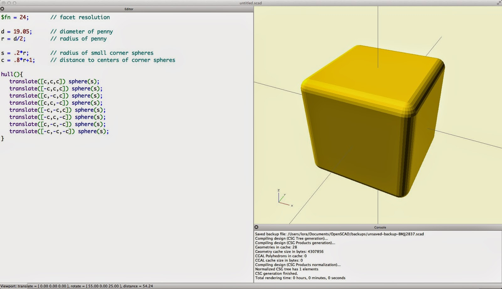 How to make mountains in openscad