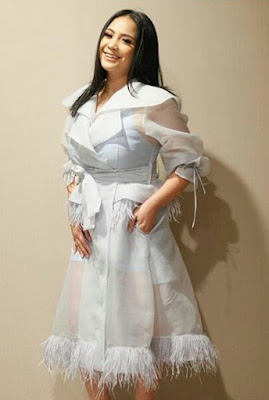 organza top and gown styles