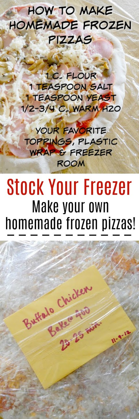 How to Make Homemade Frozen Pizzas...a great meal prep idea! Block off and couple hours, make pizzas and stock your freezer!
